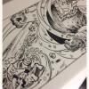 Inking test on vellum