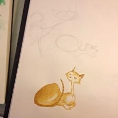 A Boyler Kat sketch page