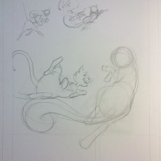 initial pencils for page 3