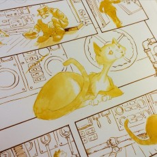 Page 1 first washes of color
