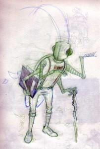 Final Buggy Character Drawing