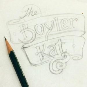 Boyler Kat Title Hand lettering